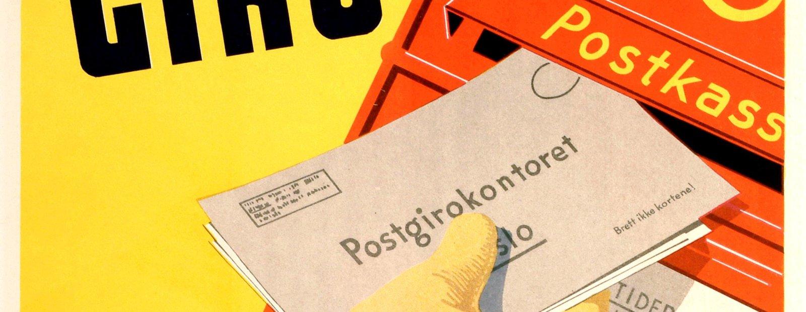 Plakat fra Postmuseet Maihaugen, Lillehammer