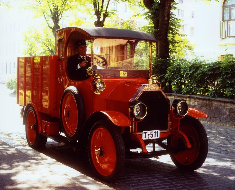 Fiat 15 Ter Lorry, 1914 modell. Foto: Norges Postmuseum
